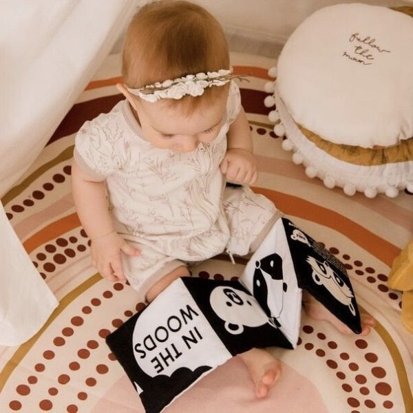 Black and White Baby Book In The Woods