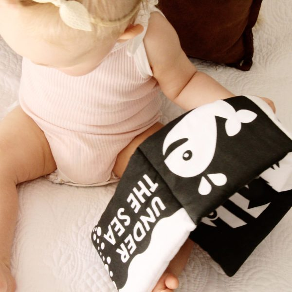 black and white baby book Under The Sea