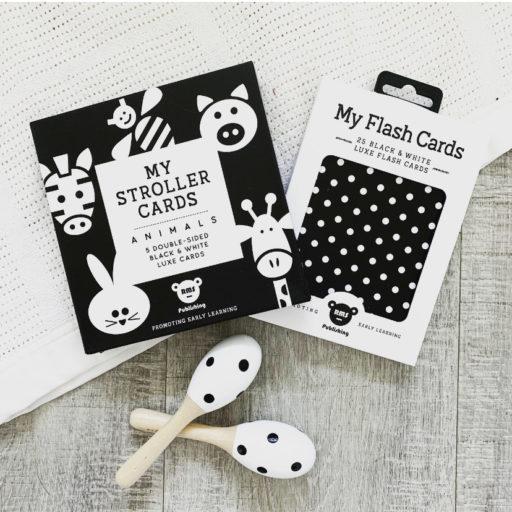 Animals Stroller Card & Newborn Flash Card Gift Set